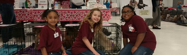ARC volunteers at adoption event