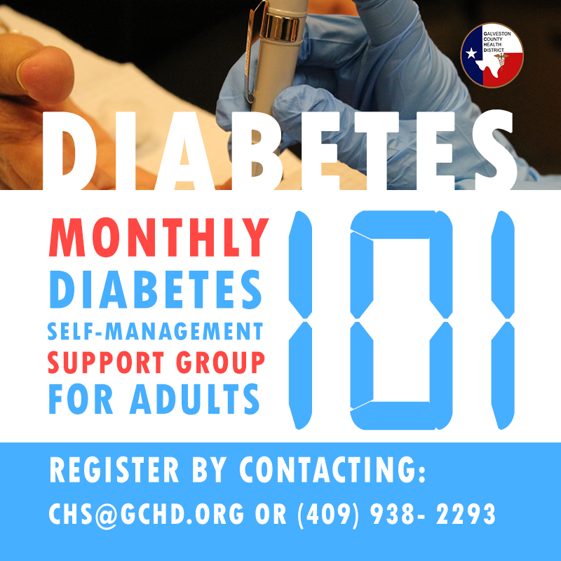 "Image reading ""Diabetes 101 support group for adults."""