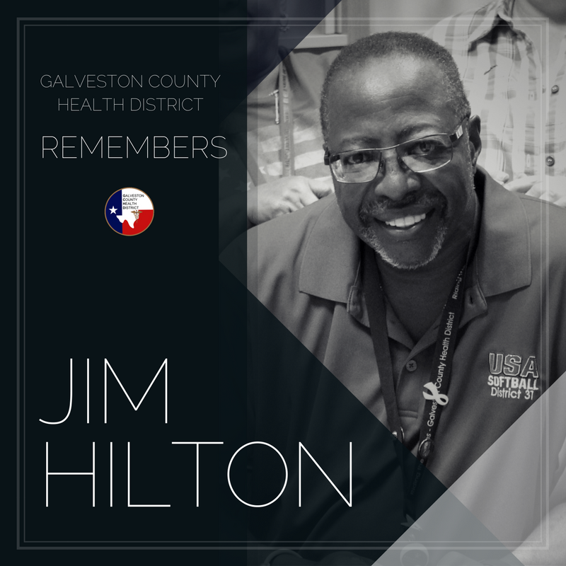 "Picture of Jim Hilton reading ""remembering Jim Hilton."""