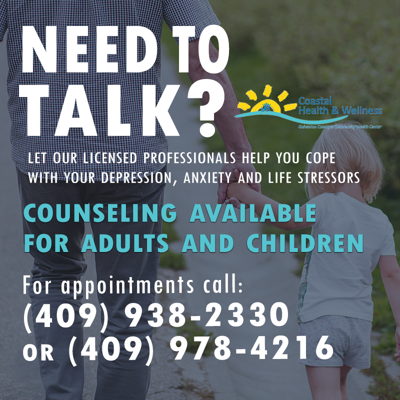 "Imagin reading ""Need to talk"" Coastal Health & Wellness offers counseling sessions for adults and children."""