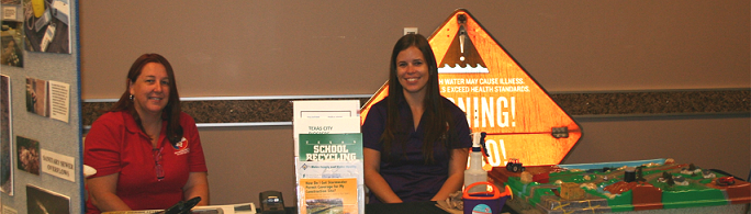 Environmental Health staff posting at open house