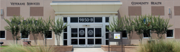 Picture of the entrance to Community Health Services at 9850-B Emmett F. Lowry Expressway in Texas City