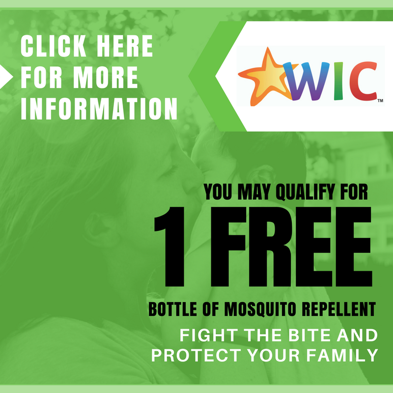 "Image that says ""Click here for more information on how you may qualify for one free bottle of mosquito repellent."""